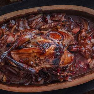 Grouse in Red Wine Sauce