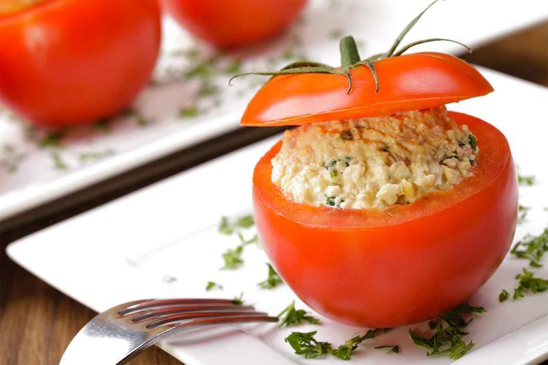 Gefüllte Tomaten Grill